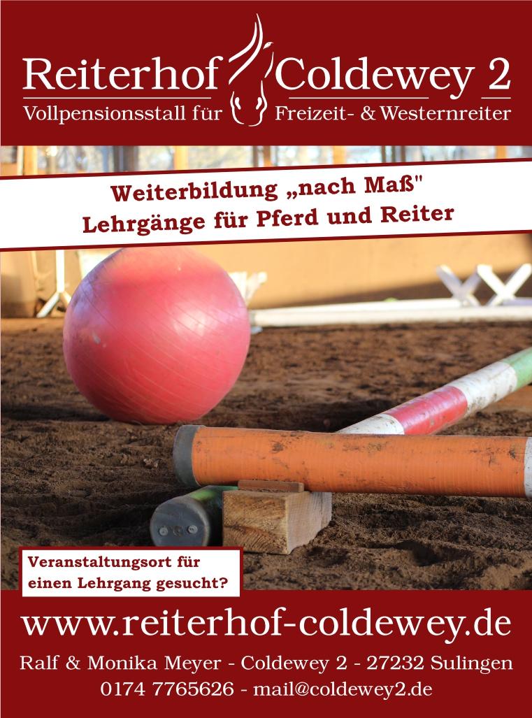 Plakat: Reiterhof Coldewey